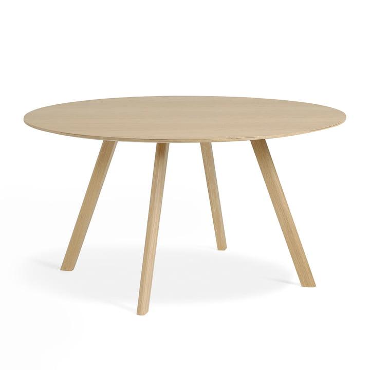 La Copenhague CPH25 table d Hay 'un diamètre de 140 cm en chêne laqué mat