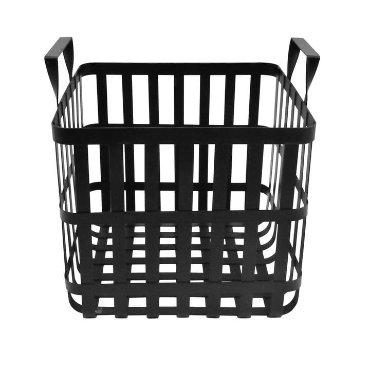 Le panier de rangement Wire H 30 cm, noir de la Connox Collection