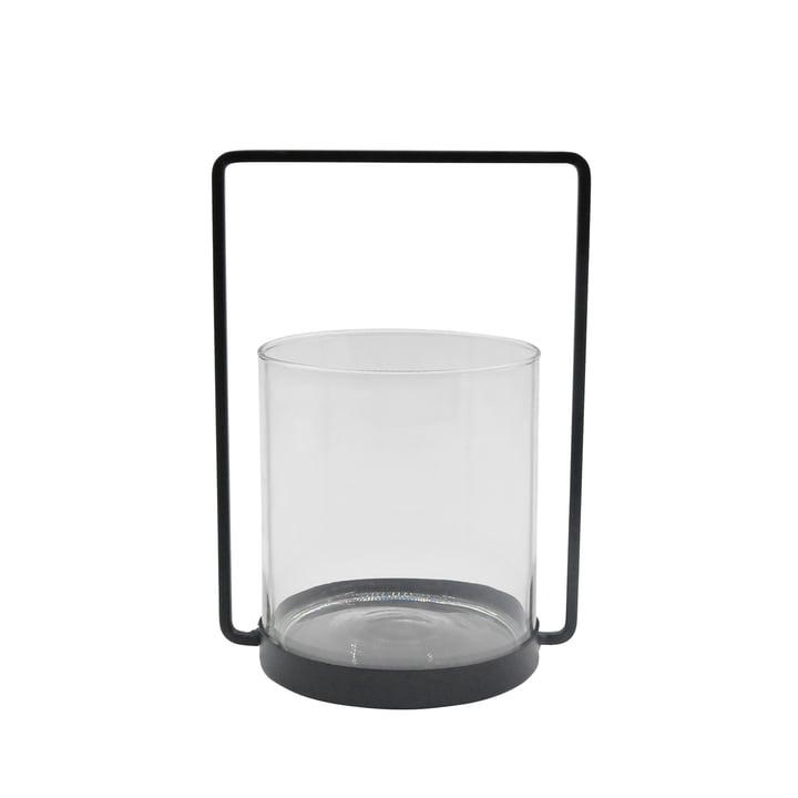 La lanterne métallique H 26 cm, noire de la Connox Collection