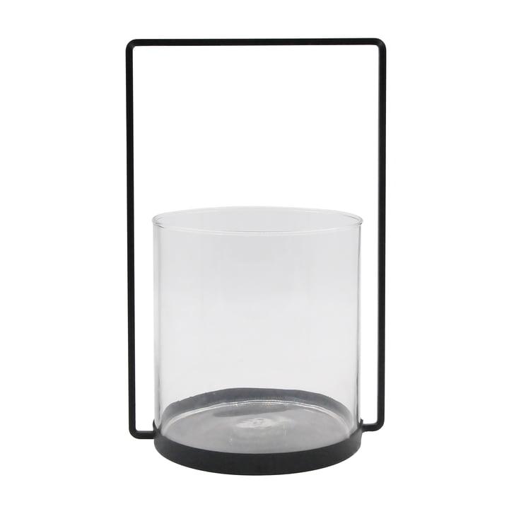 La lanterne métallique H 36 cm, noire de la Connox Collection