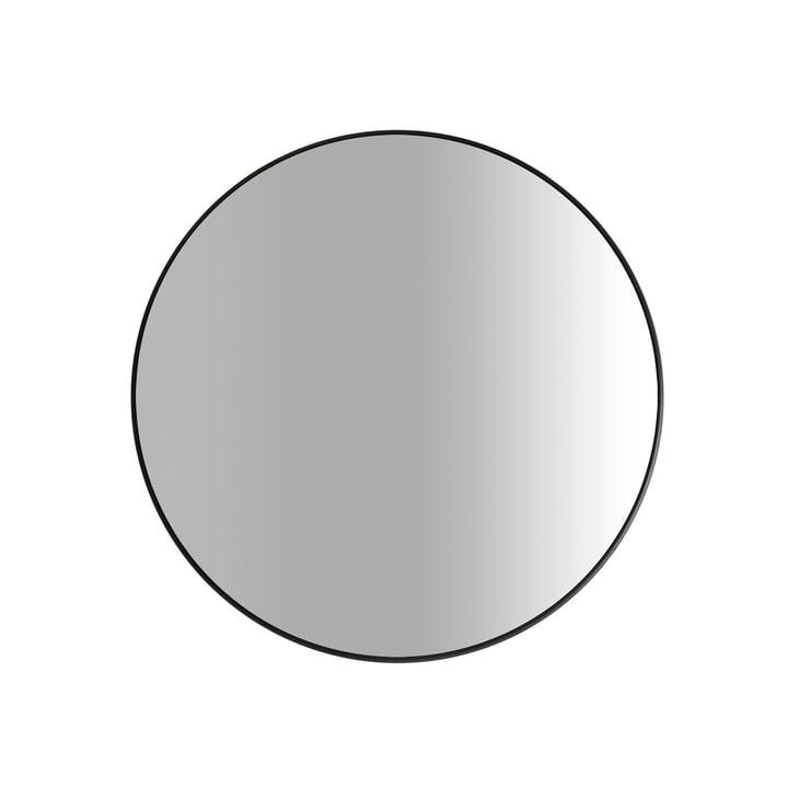 Le miroir Big Ø 60 cm, noir par yunic