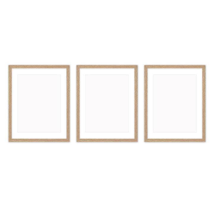 Frame it cadre photo 30 x 40 cm set (3 Connox Collection ), chêne de Connox Collection