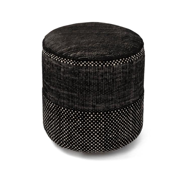 Pouf Tres Persian, Ø 39 x H 40 cm, noir par nanimarquina .