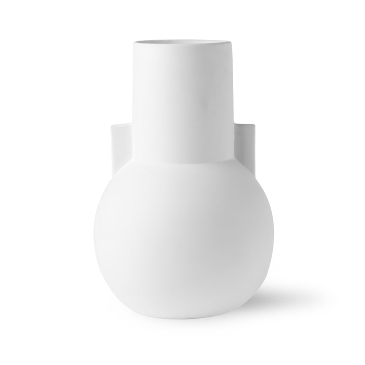 Vase S, Ø 17,5 x H 26 cm, blanc mat par HKliving