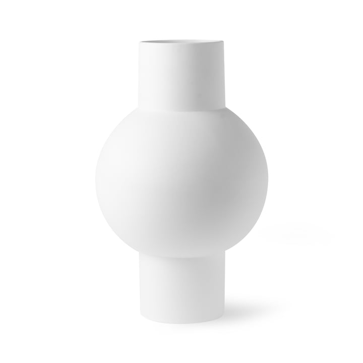 Vase M, Ø 21 x H 32 cm, blanc mat de HKliving