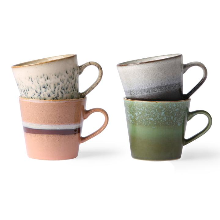 Tasses à cappuccino des années 70 0,3 l (4 HKliving ) par HKliving en multicolore