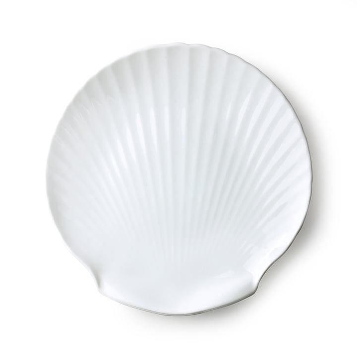 Plateau de service Athena Muschel Ø 27 cm par HKliving en blanc