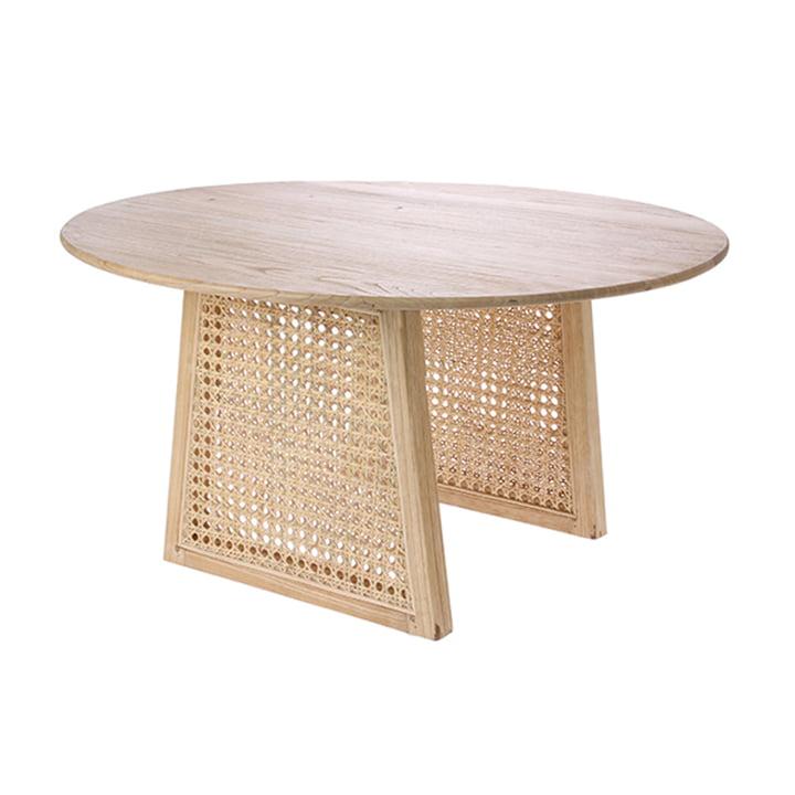 Table basse rétro en Webbing, Ø 65 cm, naturel par HKliving