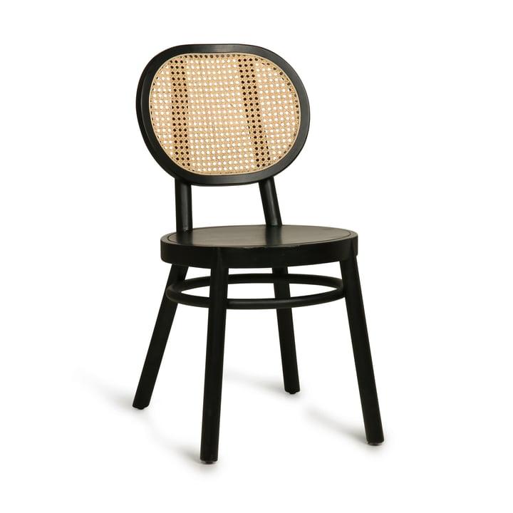 Chaise à Retro Webbing, noir par HKliving