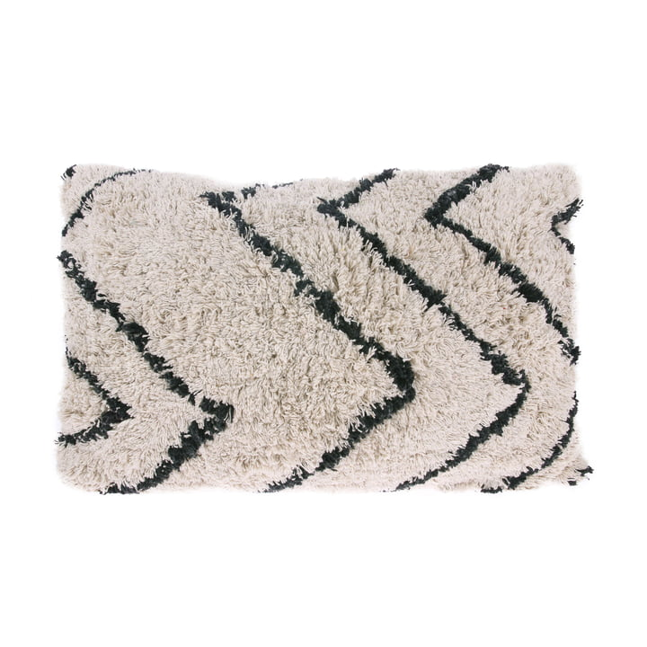 Coussin en Zigzag 60 x 40 cm par HKliving en noir et blanc