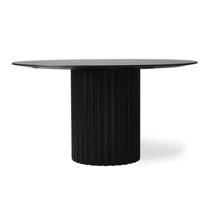 Table à manger ronde Pillar, Ø 140 cm, noir par HKliving