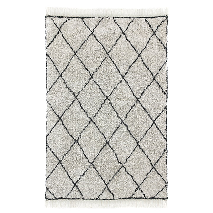 Tapis Diamond 120 x 180 cm par HKliving en blanc / noir