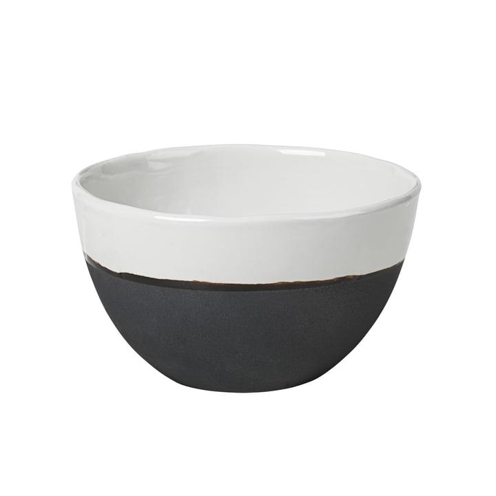 Bol Esrum, Ø 14 x H 9 cm, ivoire brillant / gris mat par Broste Copenhagen