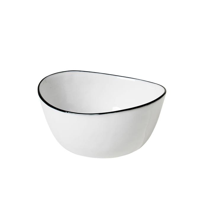 Salt, 10 x 11 x H 5,5 cm, blanc / noir de Broste Copenhagen