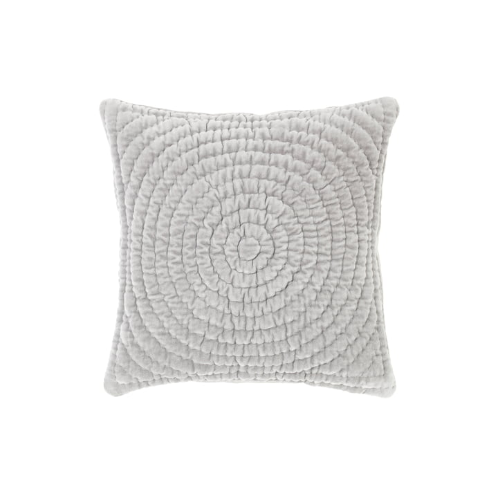 Taie d'oreiller velours Quilt Ring, 40 x 40 cm, colombe par Broste Copenhagen