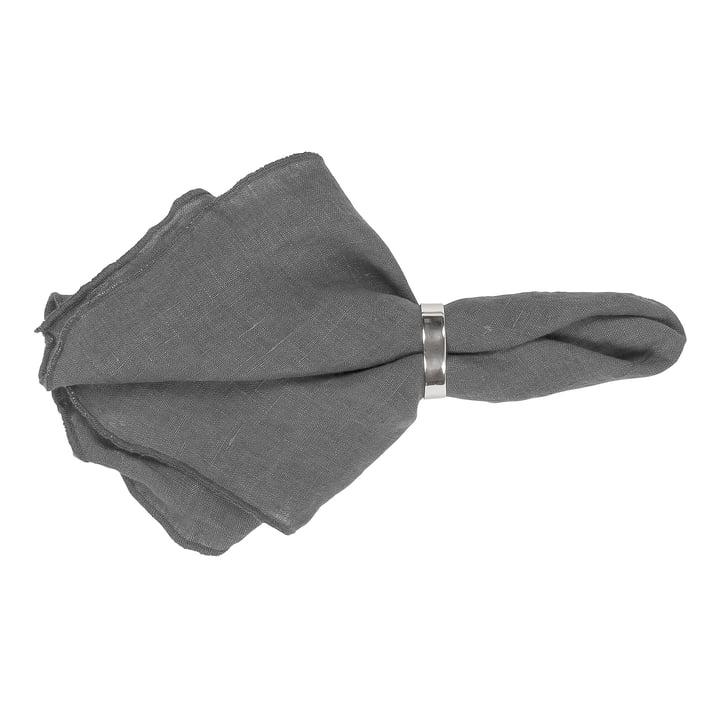 Serviette Gracie, 45 x 45 cm, ombre sombre par Broste Copenhagen