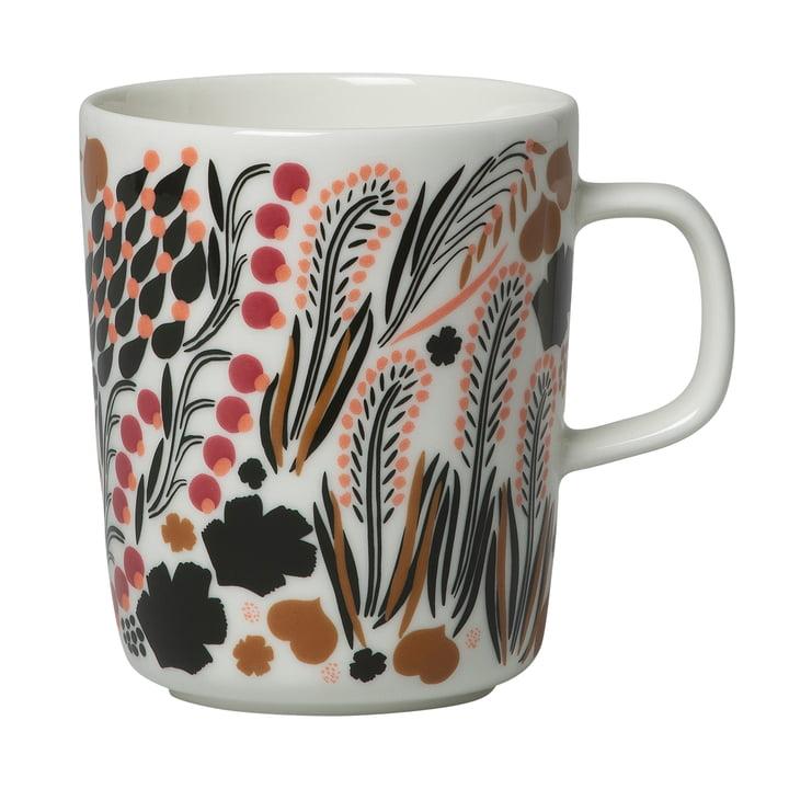 Mug Letto avec anse 250 ml, blanc / vert / marron par Marimekko