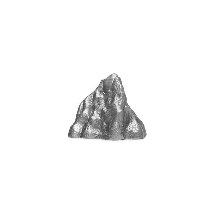 Bougeoir Stone Small, aluminium par ferm Living