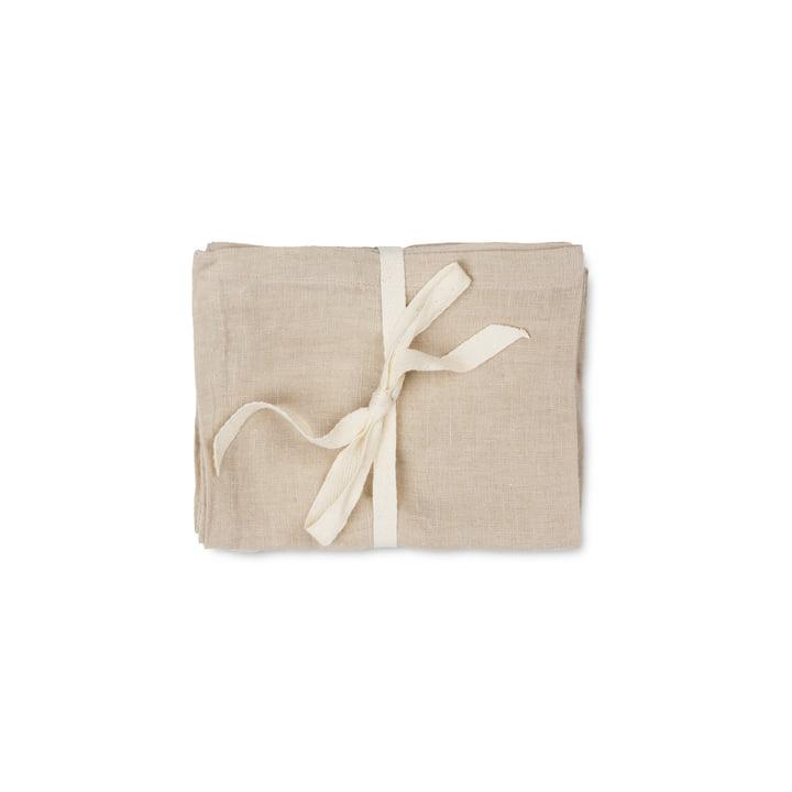 Linen, 45 x 45 cm, natural (lot de 2) par ferm Living