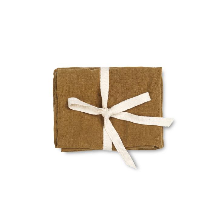 Linen, 45 x 45 cm, cinnamon (lot de 2) par ferm Living