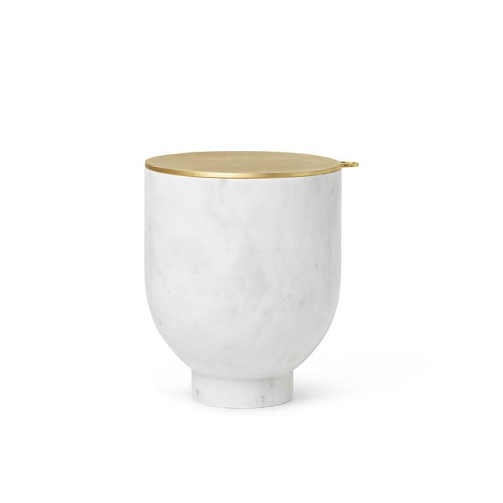 Bac à glaçons Alza de ferm Living, marbre blanc / laiton