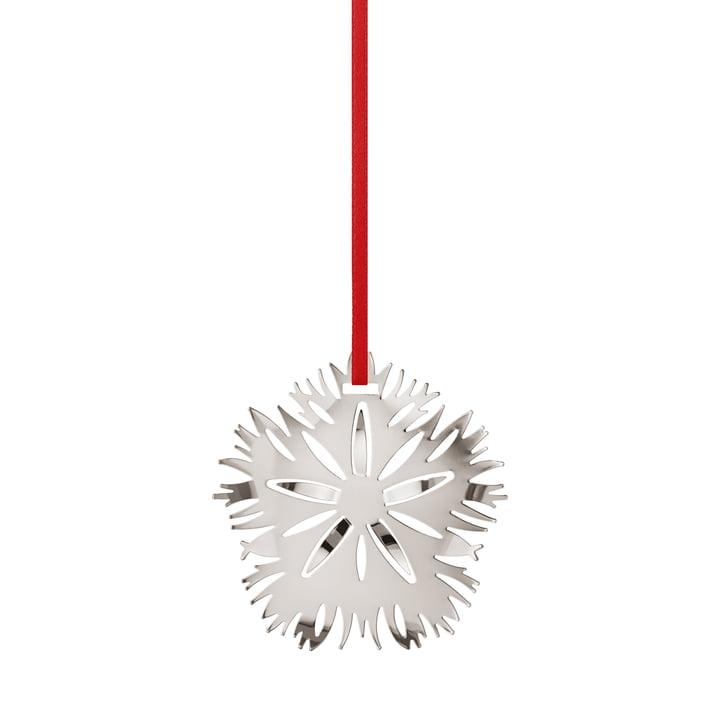 Ornement de vacances 2020 Ice Dianthus, palladium par Georg Jensen .