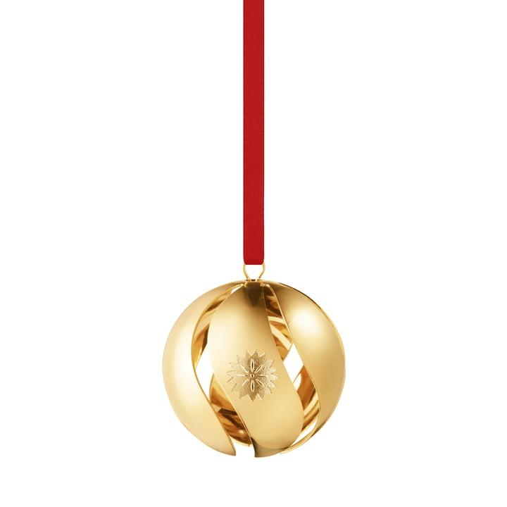 Boule de Noël 2020, or par Georg Jensen .