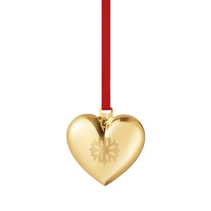 Coeur de Noël 2020, or par Georg Jensen .