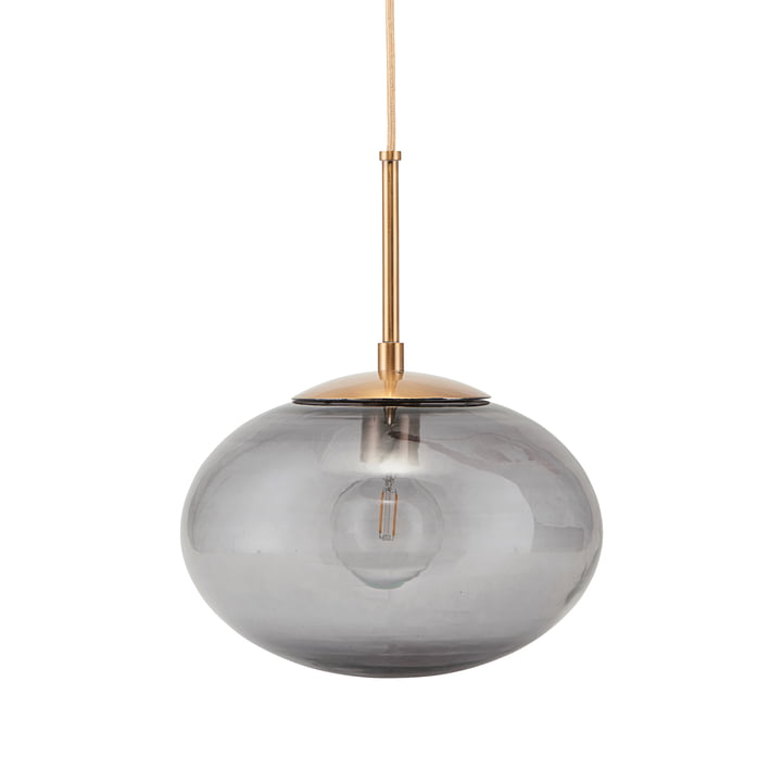 Lampe à suspension opale Ø 22 x H 17 cm de House Doctor en gris