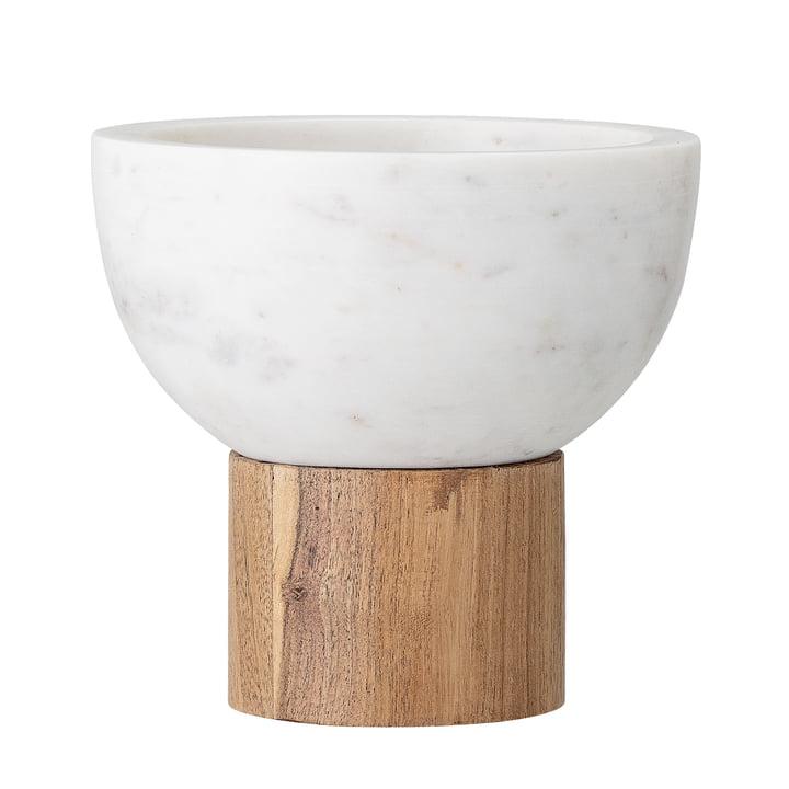 Bol de service en marbre, Ø 14,5 x H 14 cm, blanc de Bloomingville