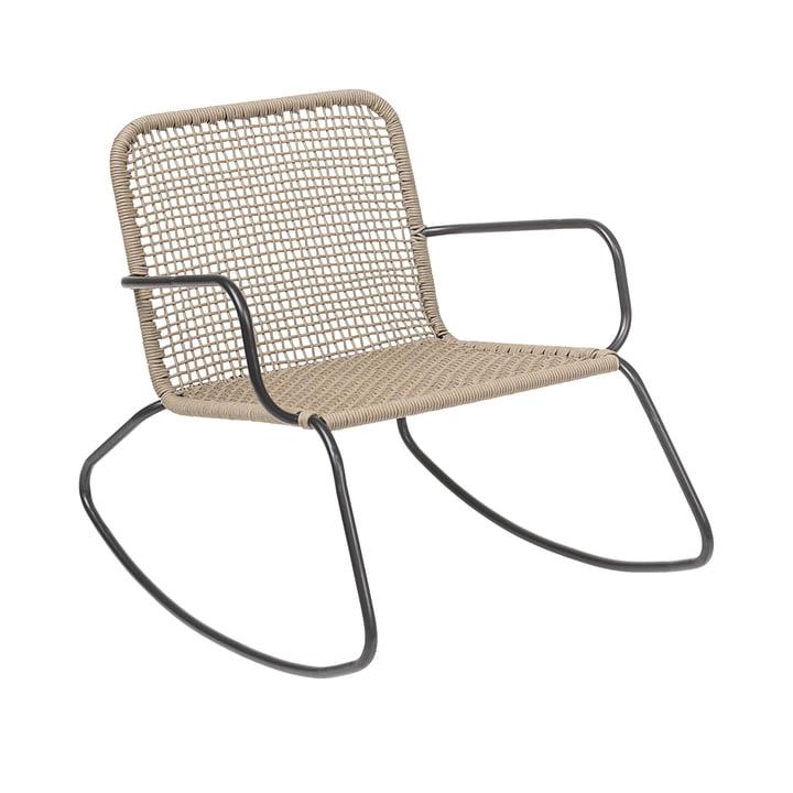 Chaise à bascule Mundo, structure en métal / naturel - Bloomingville