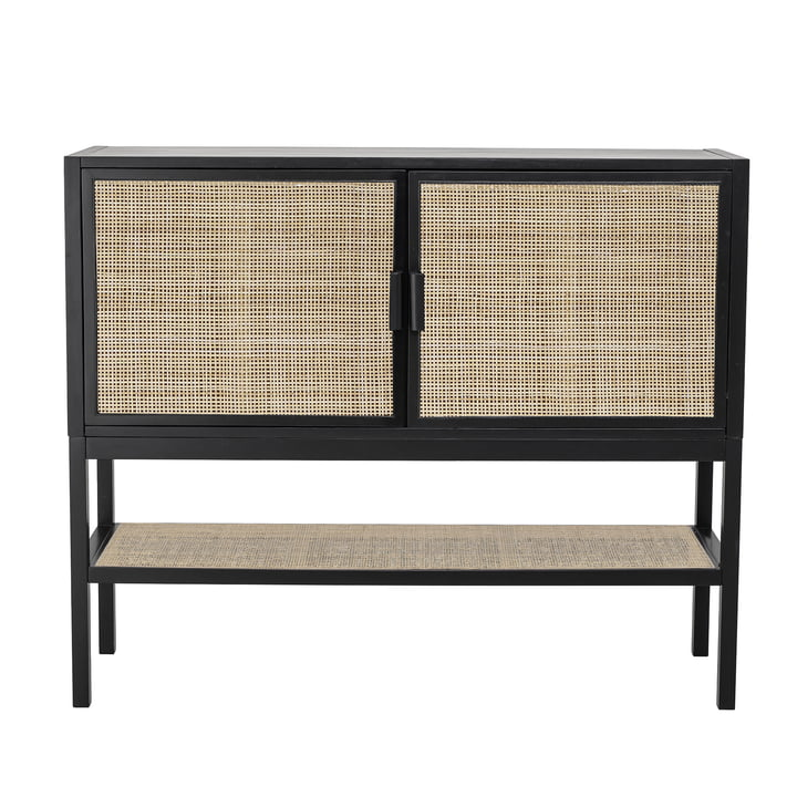 Commode Alvia 120 cm, pin / noir de Bloomingville