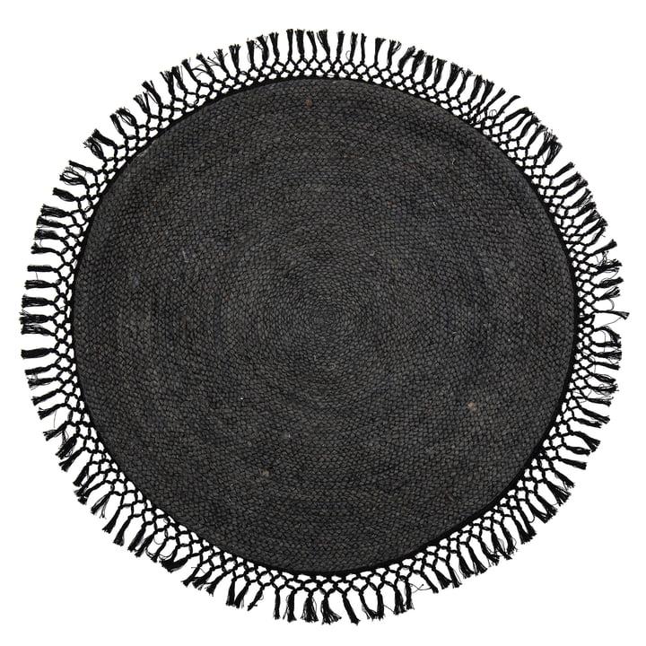 Idakamille jute Idakamille, Ø 122 cm, noir de Bloomingville .