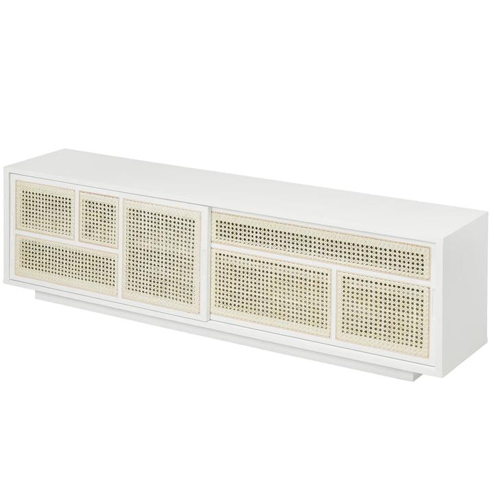 Buffet / console TV Air, blanc / gris par Design House Stockholm