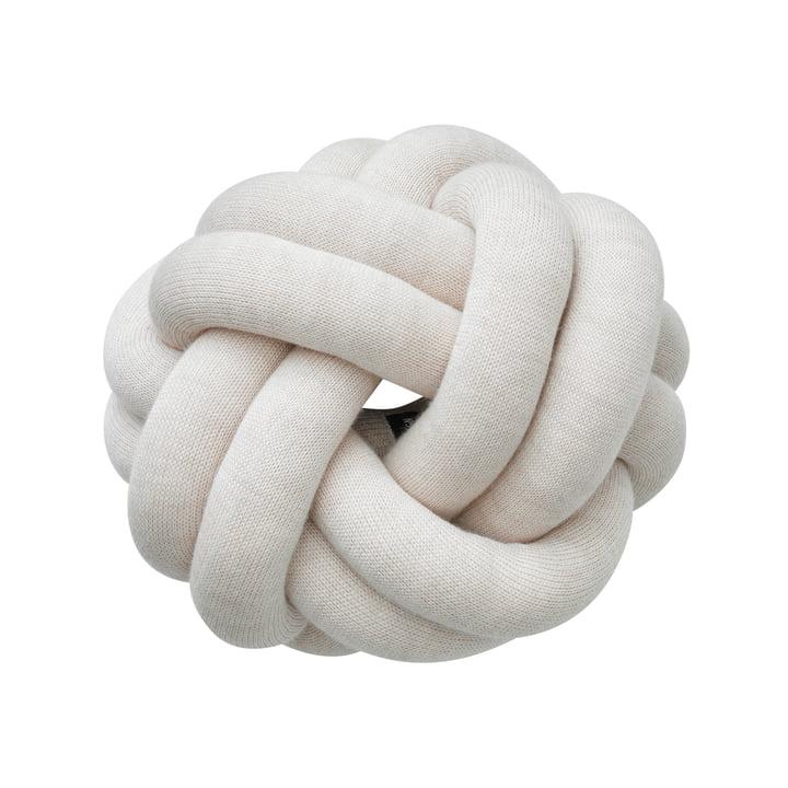 Coussin Knot, crème par Design House Stockholm