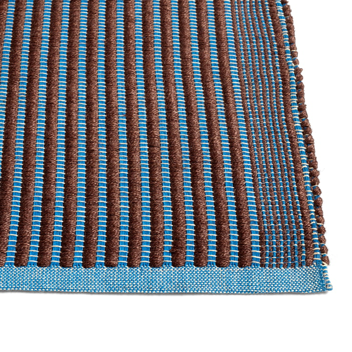 Tapis tapis, marron / bleu par Hay .