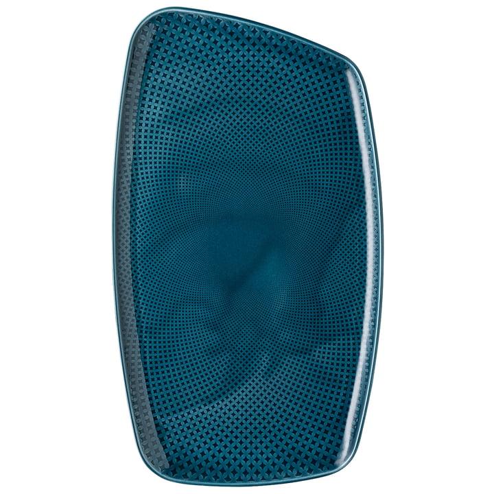 Assiette Junto, 36 x 21 cm, ocean blue par Rosenthal