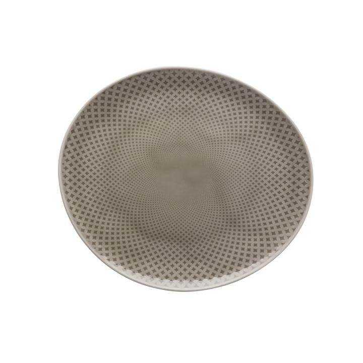 Assiette plate Junto Ø 22 cm, pearl grey par Rosenthal