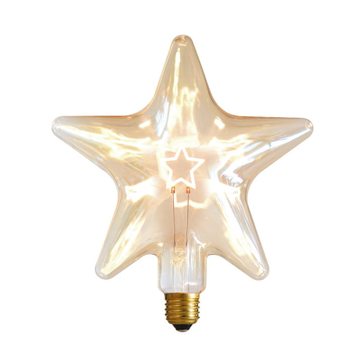 LED Star, E 27 / 0,75 W, or ambre, dimmable par NUD Collection