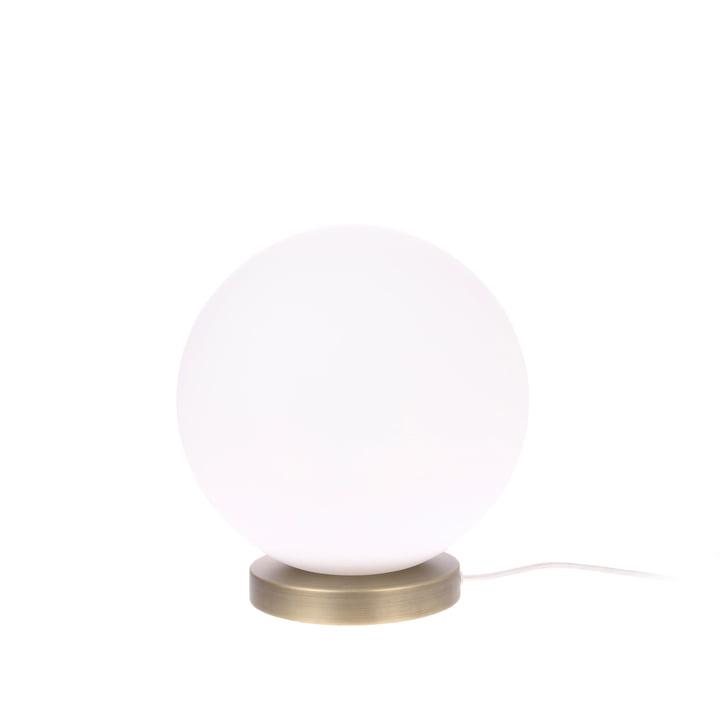 Lampe de table The Ball, M, Ø 20 cm, blanc / laiton - HKliving