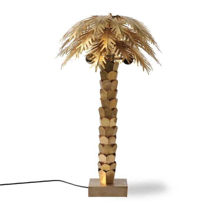 Lampe de table The Palm, H 68 cm, laiton de HKliving