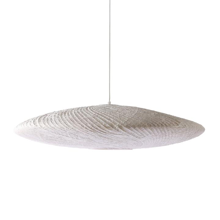 La suspension en bambou / papier Ufo, Ø 82 x H 21cm, blanc par HKliving