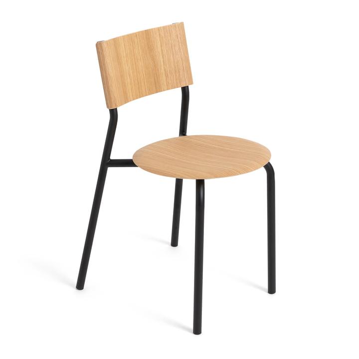 La chaise SSD, chêne / noir graphite de TipToe