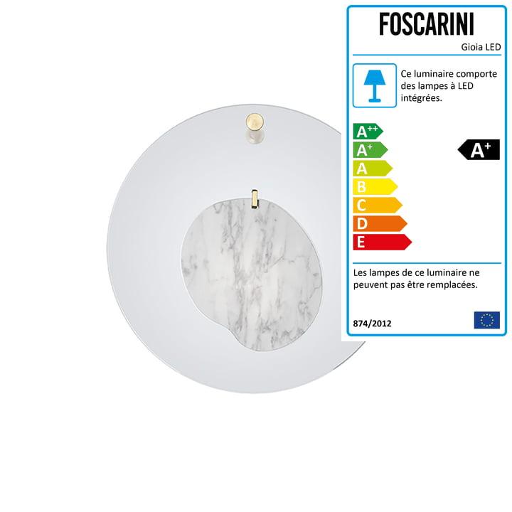 L'applique murale Gioia, bleu azur par Foscarini