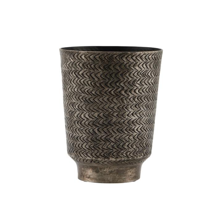 Le Oli pot de fleur, Ø 14,5 x H 18 cm, noir mat Finish par House Doctor