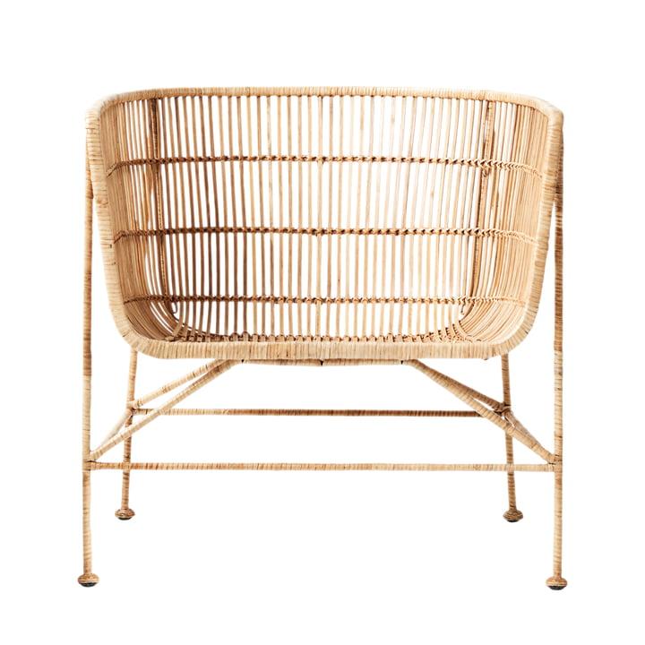 La Cuun Lounge Chair rotin Cuun, naturel par House Doctor