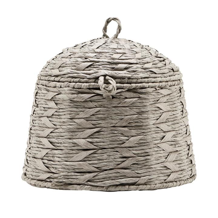 Le panier avec couvercle, Reve, Ø 28 cm, gris de House Doctor