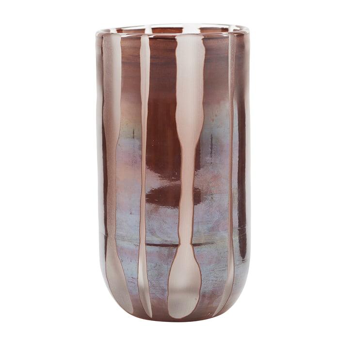 Vase Bai, Ø 8 x H 15,5 cm, marron par House Doctor