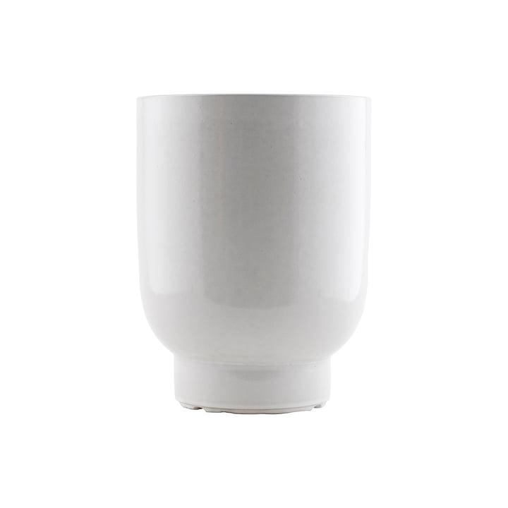 Pot fleurs The Pot, Ø 20 x H 26 cm, blanc par House Doctor