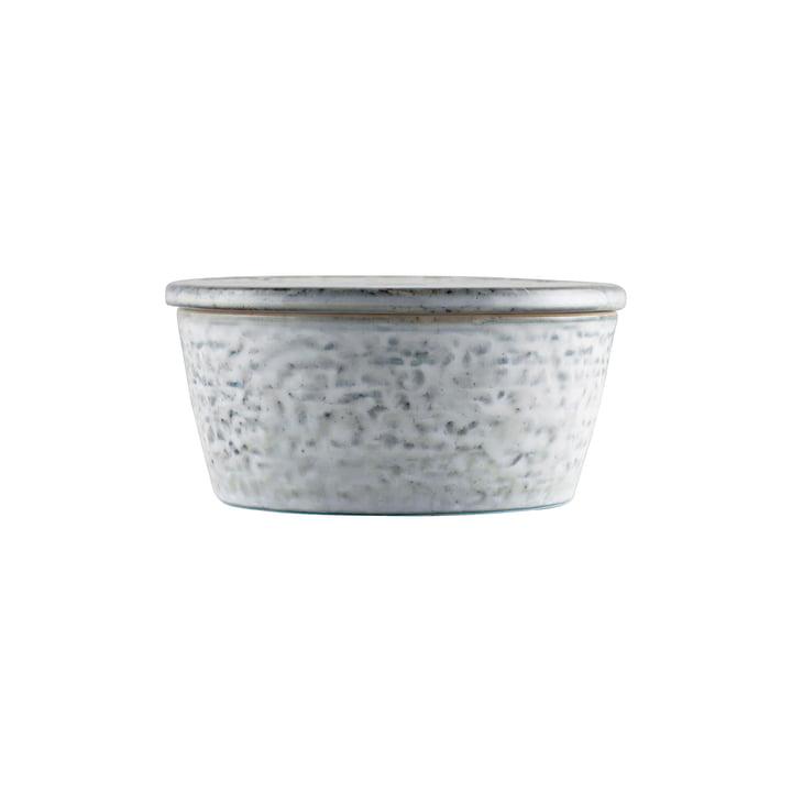 Le bol Rustic avec couvercle, Ø 11 x H 5,5 cm, gris-bleu par House Doctor